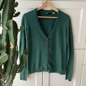 Cozy forest green cardigan